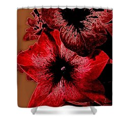 Digital Petunia Shower Curtain