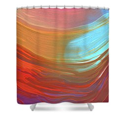 Digital Watercolor Abstract 031417 Shower Curtain