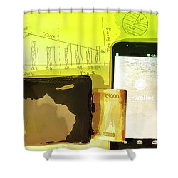 Digitalization Shower Curtain