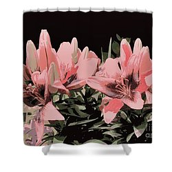 Digitalized Lilies Shower Curtain