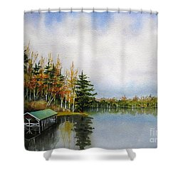 Dillman's Boathouse Shower Curtain