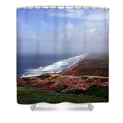 Flowering Beach Point Reyes Lighthouse Bodega Bay Shower Curtain