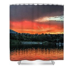 Dillon Marina At Sunset Shower Curtain