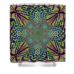Dimensional Celtic Cross Shower Curtain
