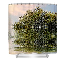 Dimensional Shower Curtain by Elfriede Fulda