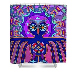 Dimensional Owl Shower Curtain by Ed Tajchman