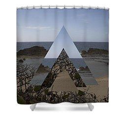 Dimensional Rift. Shower Curtain by Ismael Marte Ramos