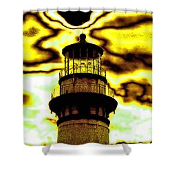 Dimensional Transfer Station Shower Curtain by Bob Wall