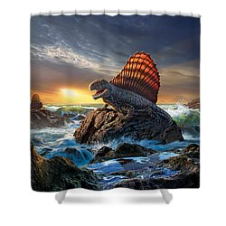 Dimetrodon Shower Curtain