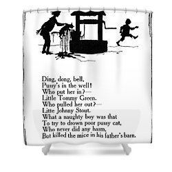 Ding, Dong, Bell Shower Curtain by Granger
