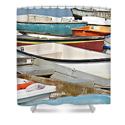 Dinghys At Bearskin Neck Shower Curtain