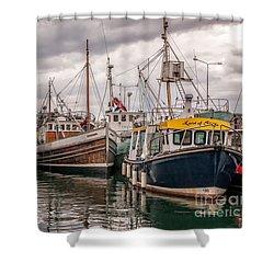 Dingle Harbour Shower Curtain