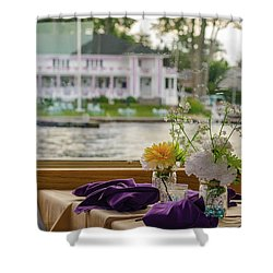 Dining Aboard The Miss Lotta Shower Curtain