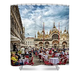 Dining On St. Mark's Square Shower Curtain
