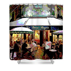 Dining Out Shower Curtain by Charles Shoup