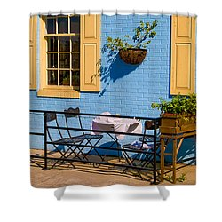 Dining Out Shower Curtain by Denis Lemay