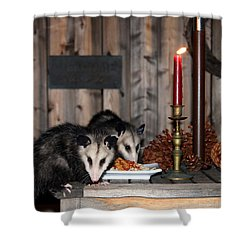 Dining Possums I Shower Curtain