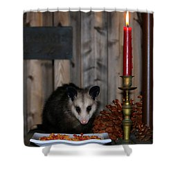 Dining Possums II Shower Curtain