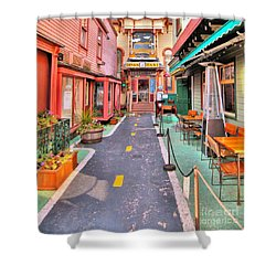 Dink's Taxi Bar Harbor Shower Curtain