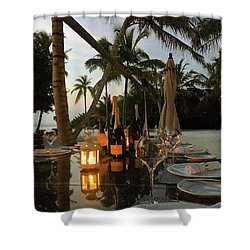 Dinner At The Beach Shower Curtain