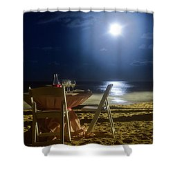 Dinner For Two In The Moonlight Shower Curtain