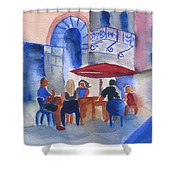 Dinner In Old San Juan Shower Curtain by Frank Bright