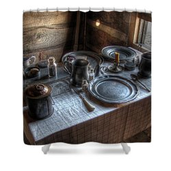 Dinner Is Served Shower Curtain by Jane Linders