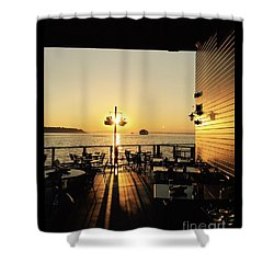 Dinner On The Water Shower Curtain
