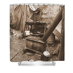 Shower Curtain featuring the photograph Dinner Will Have To Wait by Marie Neder