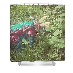 Dino Hide Shower Curtain