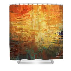 Shower Curtain featuring the painting Dinosaur Lowlands by Tatiana Iliina