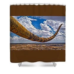 Dinosaur Tales Shower Curtain by Gary Warnimont