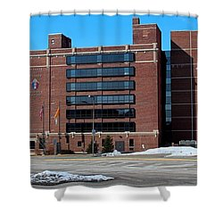 Shower Curtain featuring the photograph Diocese Of Toledo In Winter by Michiale Schneider