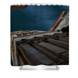 Shower Curtain featuring the photograph Diocletian Palace  by Danica Radman