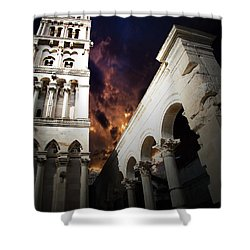 Shower Curtain featuring the photograph Diocletian's Home by Danica Radman