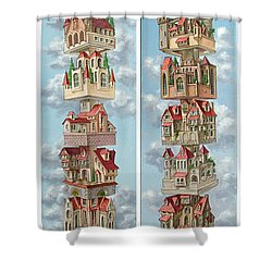 Diptych Air Castles Shower Curtain
