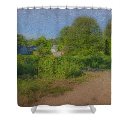 Dirt Road At Langwater Farm Shower Curtain