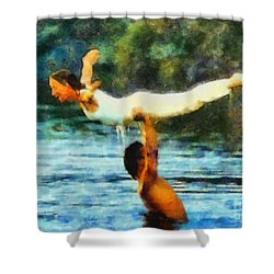 Dirty Dancing Shower Curtain by Elizabeth Coats