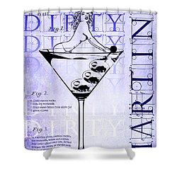 Dirty Dirty Martini Patent Blueprint Shower Curtain by Jon Neidert