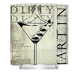 Dirty Dirty Martini Patent Shower Curtain by Jon Neidert