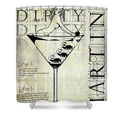 Dirty Dirty Martini Patent Shower Curtain by Jon Neidert