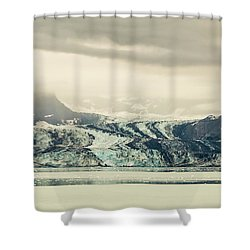 Dirty Glacier Shower Curtain