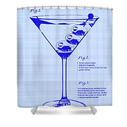 Dirty Martini Patent Shower Curtain by Jon Neidert