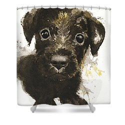 Dirty Puppy Shower Curtain