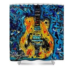 Dirty Sweet Guitar Shower Curtain