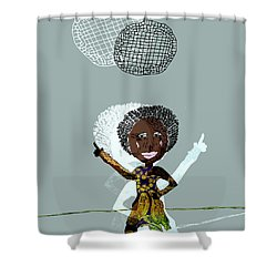 Disco Lady Shower Curtain