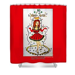 Shower Curtain featuring the painting Disco Queen 80's by Don Pedro De Gracia