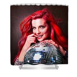 Disco Smile Shower Curtain