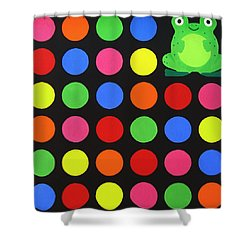 Discofrog Shower Curtain by Oliver Johnston