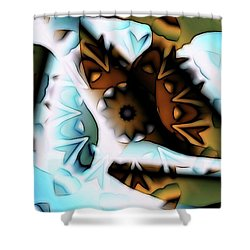 Discontinuous Permafrost Shower Curtain by Ron Bissett